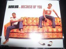 Kaylan Because Of You Australian CD Single – Like New