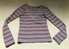 Oilily Womens Size Sz M 6 8 Shirt Long Sleeve Colorful Women's Striped Top Gats
