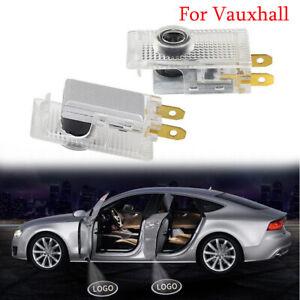 2X LED Door Welcome Light Logo puddle Laser Projector Shadow Lamp For Vauxhall