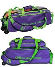 Vise 3 Ball Tote Bowling Bag with shoe pocket & Matching 3 Ball Tote GRAPE/GREEN
