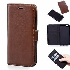 Luxury iPhone 6 6s 7 8 Plus Protective Leather Flip Wallet Card Holder Case