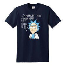 Ich bedauere aber deine Meinung T-Shirt Rick und Morty parodiert Amerikanische Anime TOP
