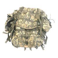 USGI Large Combat Rucksack, US Army MOLLE Ruck Backpack, ACU Digital Camo DEFECT