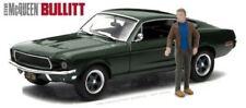 Ford Mustang GT 1968 Bullitt Steve McQueen figure 1/43 Greenlight