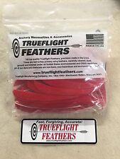 trueflight 12.7Cm PIUME LATO SINISTRO parabolico taglio 100 pz. Rosso