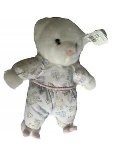 Carters Teddy Bear Bunny Slippers Rattle Terry spring Easter vintage