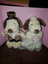 Vintage Snoopy Wedding Plush Dolls NIB