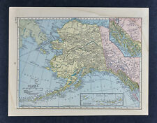 1905 Hammond Map Alaska Juneau Sitka Fairbanks Nome Yukon Klondike Dawson Canada