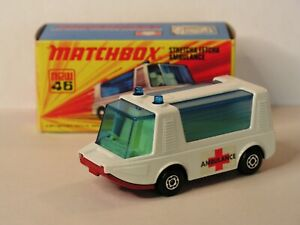 '71 Lesney Matchbox No. 46 Stretcha Fetcha Ambulance MINT! ORIGINAL BOX! England