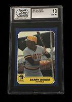 1986 Fleer Update Barry Bonds SCD 10 Gem Mint Rc