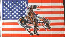 Horse Indian US Flag 5x3 American History USA Line Barn Dance Wild West Western