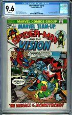 MARVEL TEAM-UP 5 CGC 9.6 WP SPIDER-MAN VISION PUPPET MASTER NEW CGC CASE MARVEL