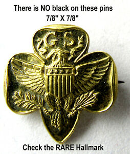 Girl Scout MEMBERSHIP PIN Type 5 SPECIAL, RARE Hallmark, ROBBINS CO., Collectors