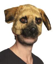 Dog Mask Fancy Dress Costume Animal Plush Face Maske Stag Night Plays NEW