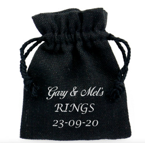 PERSONALISED WEDDING RING BAG/POUCH FOR BEST MAN MR & MRS DATE GROOM FAVOUR GIFT