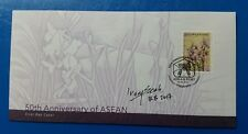Autographed Singapore Post ASEAN 50 Years Anniversary First Day Cover FDC 2017