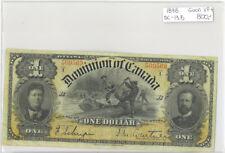 Dominion of Canada 1898 $1 One Dollar DC-13B Courtney Outward Series I Good VF+