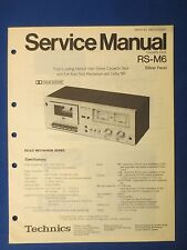 TECHNICS RS-M6 CASSETTE SERVICE MANUAL ORIGINAL FACTORY ISSUE REAL THING