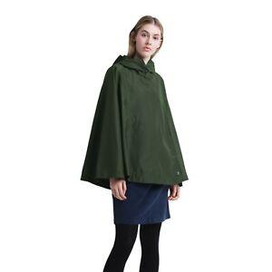 Herschel Voyage Poncho Jacket Women's Olive Green Lightweight Hooded
