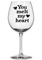 68x LOVE HEARTS VINYL DECAL STICKERS WINE GLASS VALENTINES DAY GIFT MOBILE PARTY