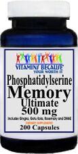 Phosphatidylserine Memory Ultimate 500 mg 200 capsules Brain Health