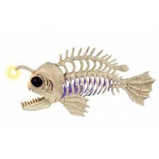Crazy Bonez Light-Up Skeleton Anglerfish Deep Sea Fish Halloween Decor Prop