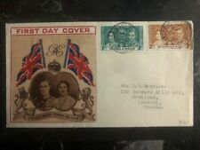 1937 Port Spain Trinidad Tobago King George VI Coronation FDC First Day Cover KG