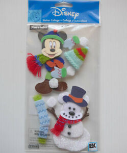 Jolee's Boutique Mickey Mouse and Snowman 3d Stickers - DJBM009 FREE POST