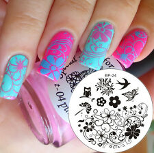 Nail Art Stamp Template Image Stamping Plates Manicure DIY BORN PRETTY #24