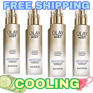 4~ Olay Face Mist Ultimate Hydration Essence Cooling Cucumber & White Mint