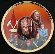 Star Trek Rare Collector Plate Redemption Hamilton Worf Coa New