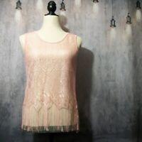 Yilanxianni Pink Crochet Tank Top Size Medium