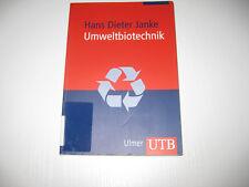 Umweltbiotechnik von Hans-Dieter Jahnke