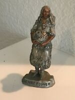 "Vintage  1991 Desert Flower Pewter Figurine 4"" PC Sedlow Sculptor"