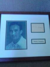 Denis Compton signed framed presentation