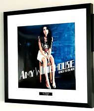 Amy Winehouse Framed PRINTED Album Cover Back To Black Plaque Certificate