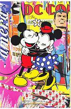 Mr Brainwash Mickey Mouse & Minnie postcard pop street art banksy warhol disney