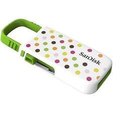 NEW Sandisk Cruzer U USB Flash Drive 8 GB - Polka Dot Green Non Retail Pack