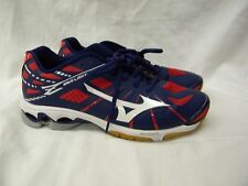 Mizuno Wave Lightning Men's Volleyball Shoes Navy/Red Size 9 pre-owned
