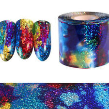 Gradient Starry Sky Nail Art Foil Paper Blue Holographic Sticker Decal Tips DIY