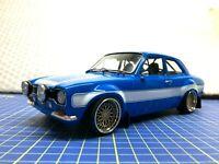 1/18 - 1974 FORD ESCORT RS 2000 MK I BLUE - MODIFIED - GREENLIGHT