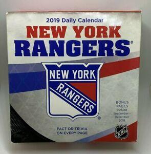 2019 NHL New York Rangers Daily Desk Calendar NEW