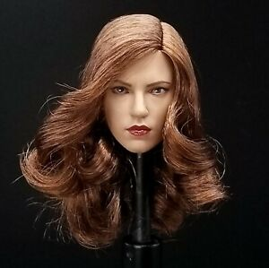 "1:6 Female Black Widow Scarlett Head Sculpt 12"" Phicen Kumik Hot Toys Avengers"
