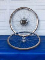 "Nice Set of Vintage 27"" Schwinn S6 S-6 Tubular Rims Wheels Wheelset 10 Speed"