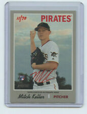 2019 TOPPS HERITAGE HIGH # RED AUTOGRAPH RC MITCH KELLER #11/70 PIRATES