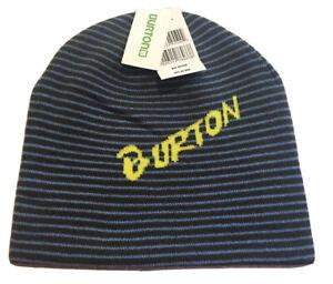 Burton Snowboard Marquee Beanie Sock Hat Boys OSFM Kids Blue Reversible Ride New