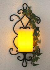 Wandkerzenhalter Metall Antik Amely 36 cm Wandleuchter Kerzenhalter Wand Kerze