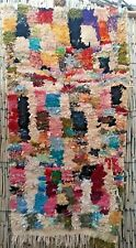 Vintage boucherouite rag rug 140 x 82 cm