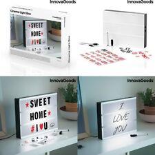 Pantalla lightbox Luz LED 30x22,deja mensajes,frases,90 caracteres letras-numero