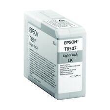 Epson T8507, C13T850700 Orig. Druckerpatrone Light Black LK → SureColor SC-P 800